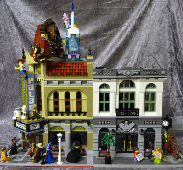The Ghostbusters Firehouse Hq 75827 Vs The Brick Bank 10251