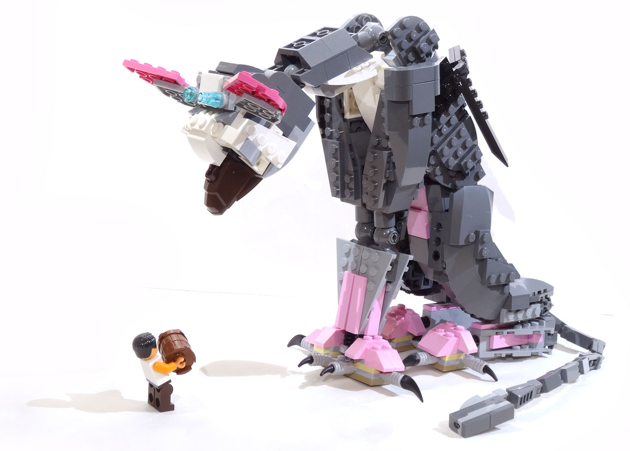 Lego MOC: Trico from The Last Guardian | The Bearded Nerd